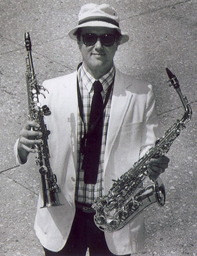 George Wolfe with instruments
